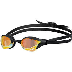 arena Cobra Core Swipe Mirror Okulary pływackie, yellow copper/black